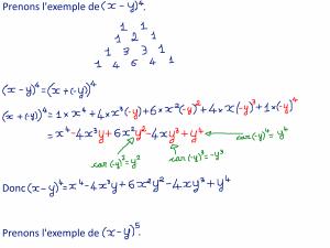 14 - Comment construire le triangle de Pascal et être capable de calculer des trucs comme (x+y)^n